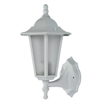 Windsor 1 Light 15 inch White Outdoor Wall Lantern