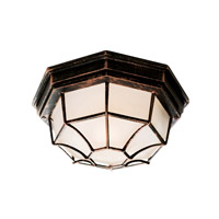 Trans Globe Wagon Wheel 1 Light Flush Mount in Black Copper 40581-BC