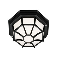Trans Globe Wagon Wheel 1 Light Flush Mount in Black 40581-BK