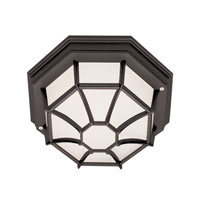 Wagon Wheel 1 Light 11 inch Black Flush Mount Ceiling Light