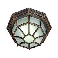 Wagon Wheel 1 Light 11 inch Rust Flush Mount Ceiling Light