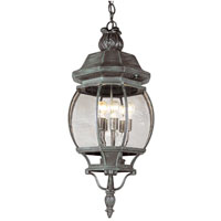 Trans Globe Lighting Classic 5 Light Outdoor Hanging Lantern in Verde Green 40672-VG