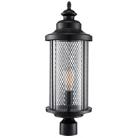 Trans Globe Lighting 40743-BK Stewart 1 Light 20 inch Black Outdoor Postmount Lantern