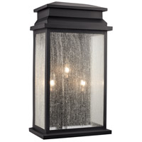 Trans Globe Lighting 40773-BK Freemont 3 Light 20 inch Black Outdoor Pocket Lantern