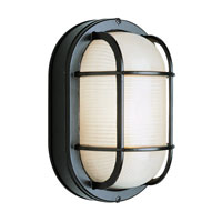 Trans Globe Lighting The Standard 1 Light Outdoor Wall Bulkhead in Black 41005-BK