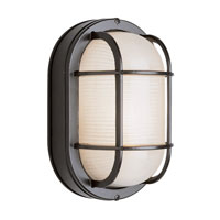 Trans Globe Lighting The Standard 1 Light Outdoor Wall Bulkhead in Black 41015-BK