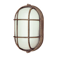 Trans Globe Lighting The Standard 1 Light Outdoor Wall Bulkhead in Rust 41015-RT