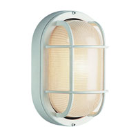 Trans Globe Lighting The Standard 1 Light Outdoor Wall Bulkhead in White 41015-WH
