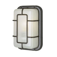 Trans Globe Lighting The Standard 1 Light Outdoor Wall Bulkhead in Black 41101-BK