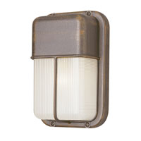 Trans Globe Lighting The Standard 1 Light Outdoor Wall Bulkhead in Rust 41103-RT