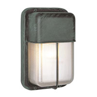 Trans Globe Lighting The Standard 1 Light Outdoor Wall Bulkhead in Verde Green 41103-VG