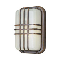 Trans Globe Lighting The Standard 1 Light Outdoor Wall Bulkhead in Rust 41104-RT