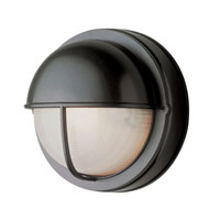 Trans Globe Lighting The Standard 1 Light Outdoor Wall Bulkhead in Black 4120-BK