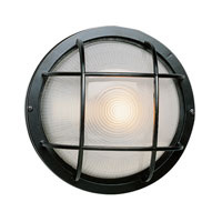 Trans Globe Lighting The Standard 1 Light Outdoor Wall Bulkhead in Black 41505-BK