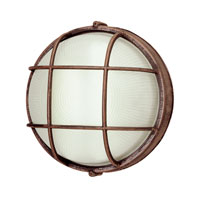 Trans Globe Lighting The Standard 1 Light Outdoor Wall Bulkhead in Rust 41505-RT photo thumbnail
