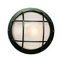 Trans Globe Lighting The Standard 1 Light Outdoor Wall Bulkhead in Verde Green 41505-VG