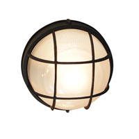 Trans Globe Lighting The Standard 1 Light Outdoor Wall Bulkhead in Black 41515-BK