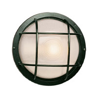 Trans Globe Lighting The Standard 1 Light Outdoor Wall Bulkhead in Verde Green 41515-VG