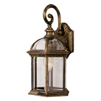 Botanica 1 Light 16 inch Black Gold Outdoor Wall Lantern