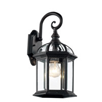 Botanica 1 Light 16 inch Black Outdoor Wall Lantern