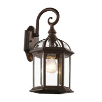 Trans Globe Lighting Classic 1 Light Outdoor Wall Lantern in Rust 4181-RT