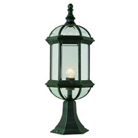 Trans Globe Lighting Classic 1 Light Post Lantern in Verde Green 4182-VG