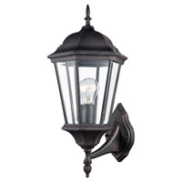 Trans Globe Lighting 4250-RT San Rafael 1 Light 23 inch Rust Outdoor Wall Lantern in Clear Glass Beveled Edges