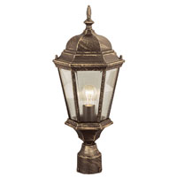 Signature 1 Light 22 inch Black Copper Post Lantern