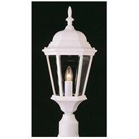 Trans Globe Lighting 4260-WH San Rafael 1 Light 22 inch White Outdoor Postmount Lantern