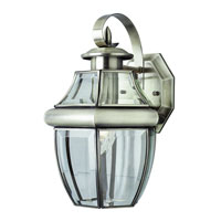 Glass House 1 Light 13 inch Brushed Nickel Outdoor Wall Lantern