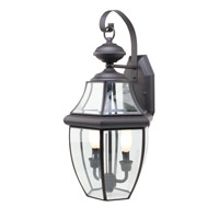 Trans Globe Glass House 2 Light Outdoor Wall Lantern in Weathered Bronze 4320-WB