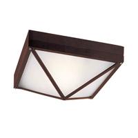 Trans Globe Lighting 43301-RT Craftsman Hobnail 1 Light 9 inch Rust Flush Mount Ceiling Light