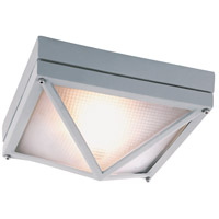 Harland 1 Light 9 inch Silver Outdoor Flush Mount