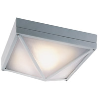 Harland 1 Light 13 inch Silver Outdoor Flush Mount