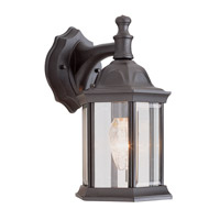 Templar 1 Light 13 inch Black Outdoor Wall Lantern