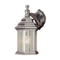 Trans Globe Lighting The Standard 1 Light Outdoor Wall Lantern in Brushed Nickel 4349-BN