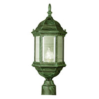 Trans Globe Lighting Classic 1 Light Post Lantern in Verde Green 4352-VG