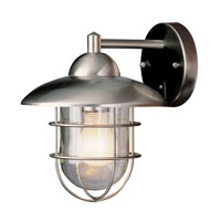 Cadiz 1 Light 8 inch Stainless Steel Outdoor Wall Lantern