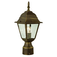 Trans Globe Lighting The Standard 1 Light Post Lantern in Black Gold 4414-BG