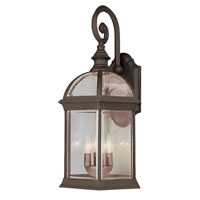 Trans Globe Lighting Classic 4 Light Outdoor Wall Lantern in Rust 44182-RT