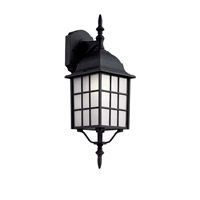 Trans Globe City Mission 1 Light Outdoor Wall Lantern in Black 4420-1-BK