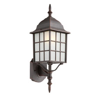 City Mission 1 Light 20 inch Rust Outdoor Wall Lantern