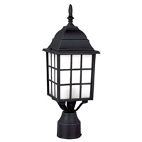 City Mission 1 Light 19 inch Black Post Lantern
