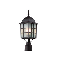 Trans Globe City Mission 1 Light Post Lantern in Rust 4421-RT