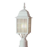 Trans Globe City Mission 1 Light Post Lantern in White 4421-WH