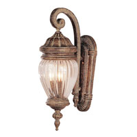 Trans Globe Lighting New American 3 Light Outdoor Wall Lantern in Antique Gold 4441-AG
