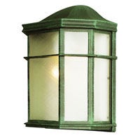 Trans Globe Lighting The Standard 1 Light Outdoor Pocket Lantern in Verde Green 4484-VG