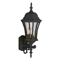 Summerville 3 Light 24 inch Black Outdoor Wall Lantern