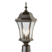 Trans Globe Summerville 3 Light Post Lantern in Black 4504-BK