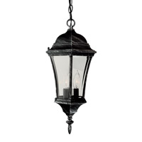 Summerville 3 Light 9 inch Swedish Iron Outdoor Hanging Lantern